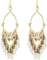 Nakamol Teardrop Earrings w/ Beaded Fringe