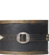 Ralph Lauren Studded & Stamped Leather Belt
