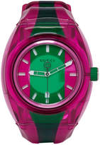 Gucci Pink and Green G-Sync Watch