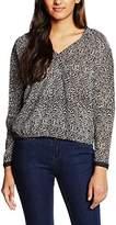 Morgan Women's Printed Long Sleeve Vest - Black -