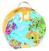 Janod World Map Puzzle & Suitcase
