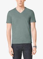Michael Kors Cotton-Jersey V-Neck T-Shirt