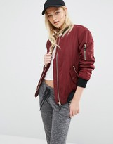 Pull&Bear Faux Fur Lined Bomber
