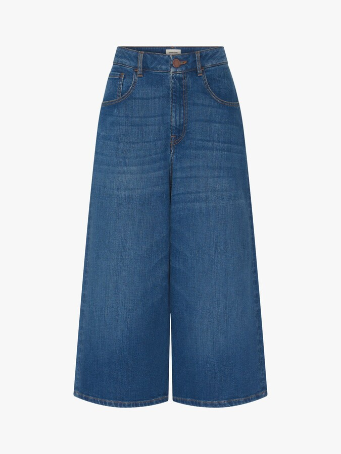 Thumbnail for your product : Gerard Darel Mael Denim Wide Leg Trousers, Blue