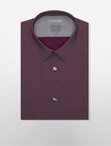 Calvin Klein X Fit Ultra Slim Fit Zig-Zag Dress Shirt
