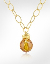 Boule - Citrine Cubic Zirconia Drop Necklace