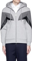 Neil Barrett 'Modernist 7' panel neoprene zip hoodie