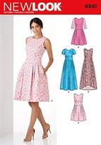 New Look 6341 Size A Misses' Dress in 3 Lengths Sewing Pattern, Multi-Colour