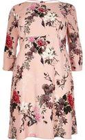 River Island Womens Plus pink floral print midi dress