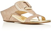 Donald J Pliner Daun Metallic Lizard-Print Demi Wedge Sandals