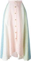 Peter Pilotto rainbow striped skirt - women - Linen/Flax - 8