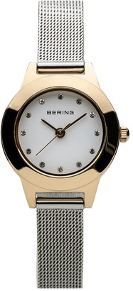 Bering Women's Two-Tone Classic Mesh Bracelet Watch