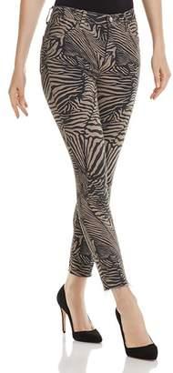 J Brand Alana High-Rise Crop Skinny Jeans in Zebra Van Patten - 100% Exclusive