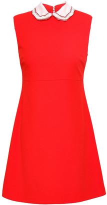 Maje Rengat Embellished Stretch-crepe Mini Dress
