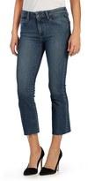Paige Women's Colette High Waist Raw Hem Crop Flare Jeans