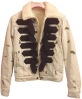Giambattista Valli X H&M X H&m Blue Cotton Leather Jacket for Women