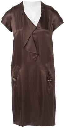 Valentino Brown Silk Dresses