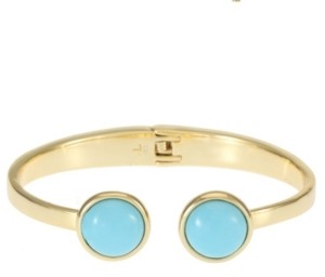 Trifari 14K Gold-Plated Hinged Cuff Bracelet