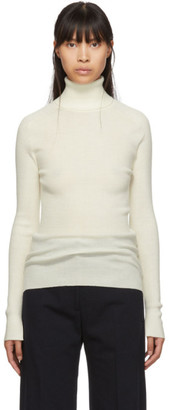 Studio Nicholson Off-White Fitted Pico Turtleneck