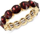 Kenneth Cole New York Gold-Tone Burgundy Stone Stretch Bracelet