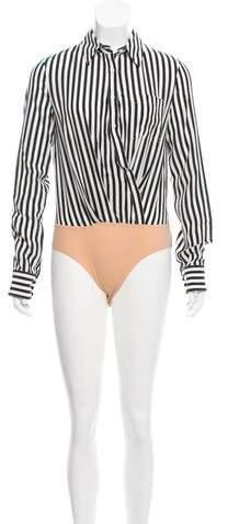 Altuzarra Striped Silk Bodysuit w/ Tags