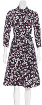 Oscar de la Renta 2016 Floral Print Midi Dress w/ Tags