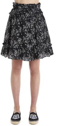Kenzo Floral Print Skirt