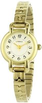 Timex Carriage Women's C3C597 Gold-Tone Petite Round Case Gold-Tone Stainless Steel Expansion Band Watch