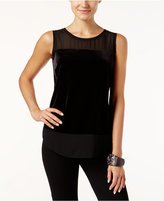 INC International Concepts Illusion-Trim Top, Only at Macy's