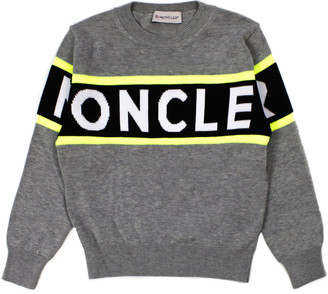 Moncler Grey Cotton Jumper