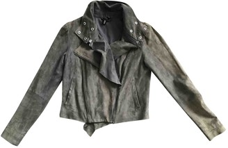 Edun Grey Suede Leather Jacket for Women