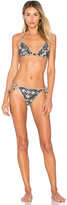 Zimmermann Divinity Ruffle Bikini Set in Black. - size 0 / XS (also in 1 / S,2 / M)