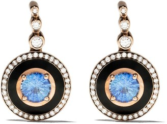 Selim Mouzannar 18kt rose gold diamond sapphire Mina earrings