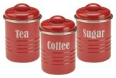 Typhoon Vintage Summer House 3 Piece Tea/Coffee/Sugar Set - Red
