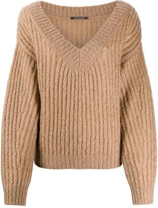 Luisa Cerano ribbed V-neck sweater