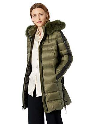 1 Madison Women's Coat with Side Grommet Lace-Up Detail