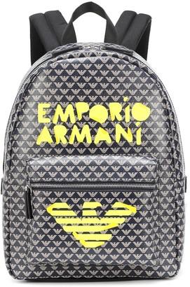 Emporio Armani Kids Graffiti logo backpack