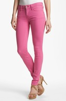 Marc by Marc Jacobs 'Gaia' Colored Super Skinny Stretch Jeans (Magenta Petal)