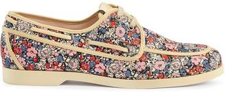 Gucci Liberty floral boat shoe