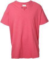 Off-White open neck T-shirt - men - Cotton - M