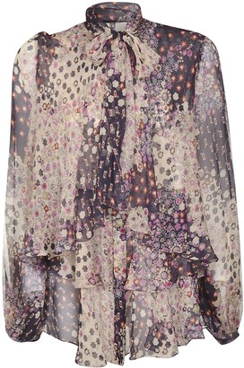 DSQUARED2 Bow-neck Lace Printed Dress