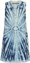 Raquel Allegra Fray-trimmed tie-dye dress