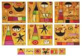 Wood placemats and coasters (Set for 6), 'Playtime World'