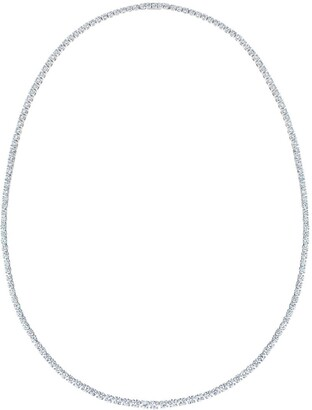 De Beers 18kt white gold Diamond Line necklace