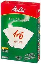 Melitta filter paper allo Magic Natural White 1 x 6G (japan import)