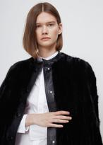 Marni black mink cape