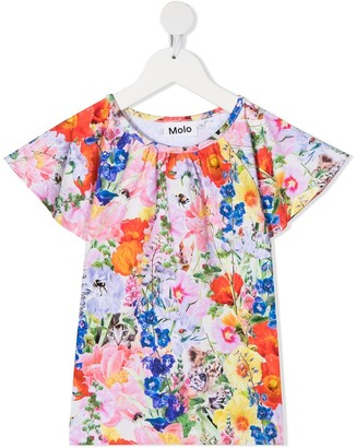 Molo Floral-Print Organic Cotton Blouse