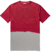 Lanvin Dip-dyed Cotton-jersey T-shirt - Red