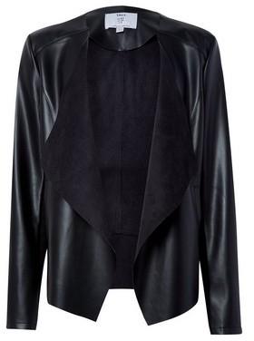 Dorothy Perkins Womens Dp Tall Black Pu Waterfall Jacket, Black