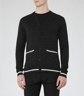 Reiss Gaudi Wool Piped Cardigan